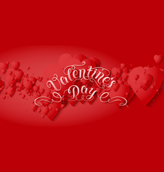 valentines day card elegant vector image