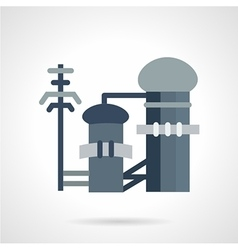 Waste treatment flat icon vector