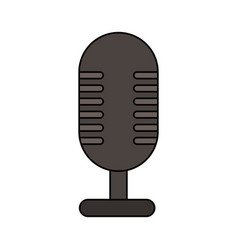 White background with desk microphone of fixed vector