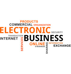word cloud - electronic business vector image