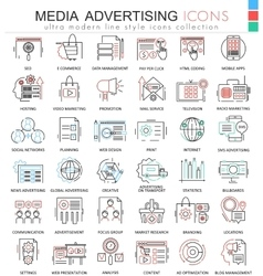Media advertising ultra modern color vector