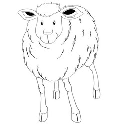 Doodle animal for sheep vector