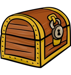 Treasure chest clip art cartoon vector