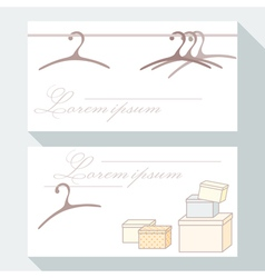 Business card set with hangers and boxes vector