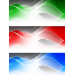abstract bright banners vector image
