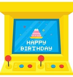 Arcade machine cake birthday vector image vector image