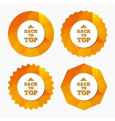 Back to top arrow sign icon Scroll up symbol vector image