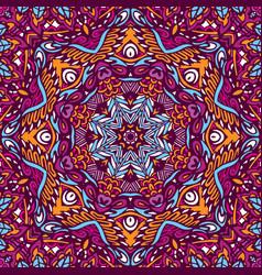 Bohemian geometric mandala print vector