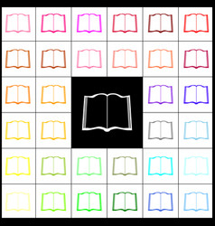 book sign felt-pen 33 colorful icons at vector image vector image