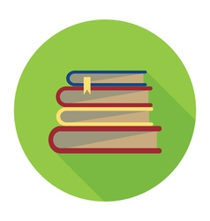 Books badge vector