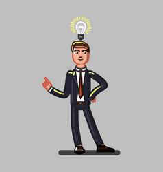 buisnessman have an idea vector image