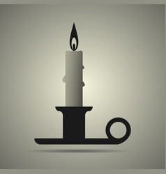 Candle and candlestick vector