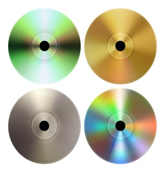 CD DVD discs vector image vector image