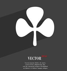 Clover symbol Flat modern web design with long vector image