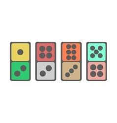 Domino icon vector