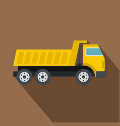 Dumper truck icon flat style vector