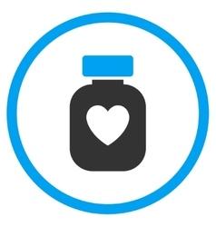 Favorite medication icon vector