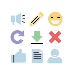 Flat design icons Communication vector image