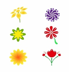 flower logo and icon vector image