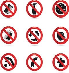 Forbidden 01 resize vector image vector image