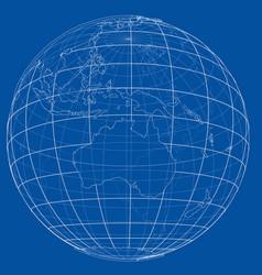 Globe contour rendering of 3d vector