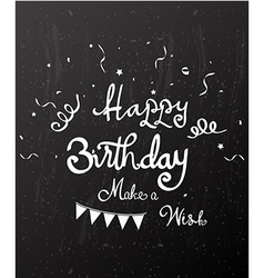 Happy birthday on chalkboard vector image