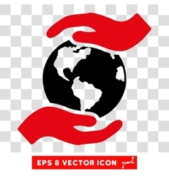 International care hands eps icon vector