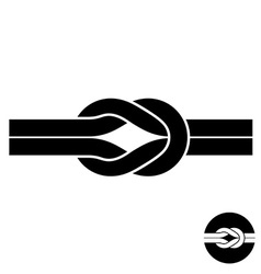 Knot black symbol Two wire with loops logo vector image vector image