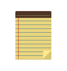 Linear notes in a flat style vector