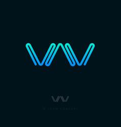 logo w monogram pipe water vector image vector image