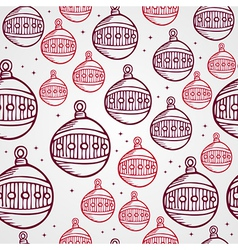Merry Christmas bauble seamless pattern background vector image vector image