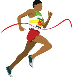 Olympic sprinter vector