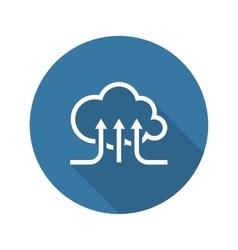 Online Cloud Services Flat Design Icon Long vector image vector image