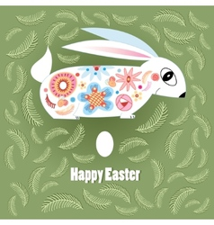 Ornamental Easter bunny vector image vector image