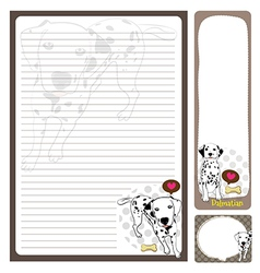 paper note Dalmatian vector image vector image