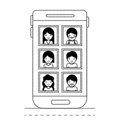 people picture profiles social network in vector image
