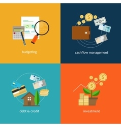 personal finance icon set vector image vector image