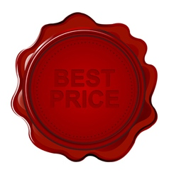 Wax seal with text Best price vector image