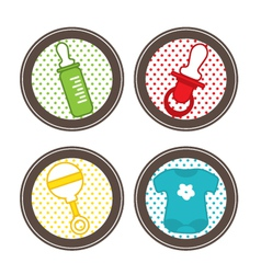 Baby stickers collection vector image