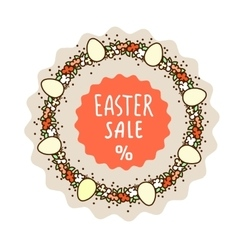 Easter sale sticker template vector image
