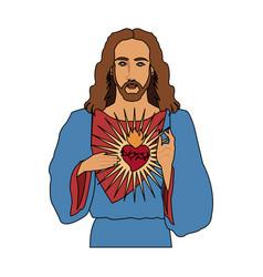 Jesus christ icon image vector