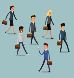 business concept people follow the leader vector image