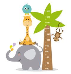 animal wall meter vector image