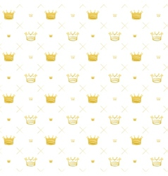 Simple seamless pattern with crown symbol art vector
