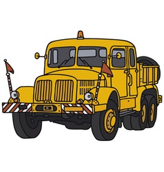 Old yellow truck vector