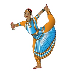Indian dancer stands vector