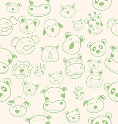 Animal head pattern vector
