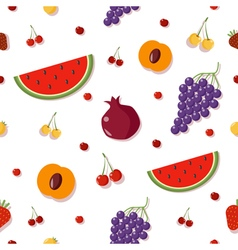 Fruits background berries seamless pattern vector
