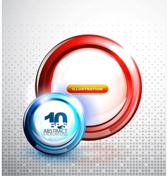 Abstract circle banner vector