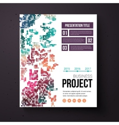 Abstract design template for a business project vector